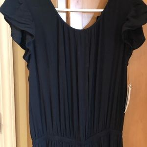 a.n.a Black flutter sleeve jumpsuit.
